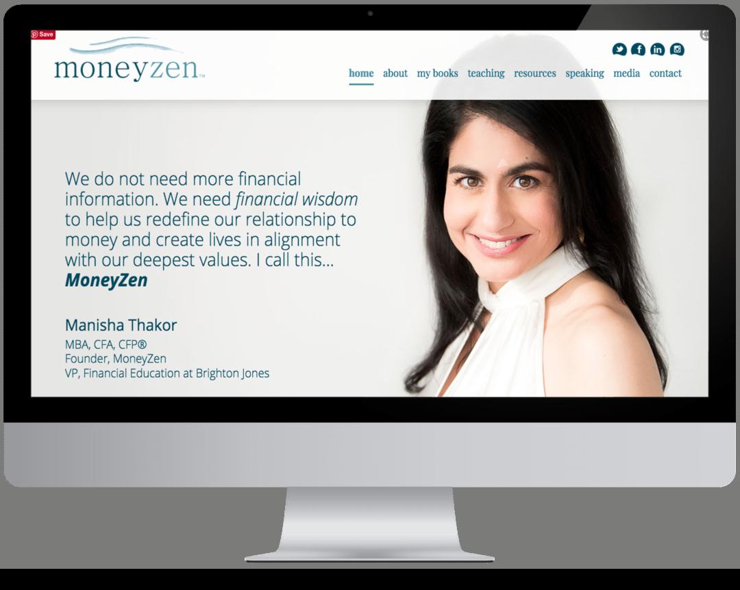 money zen website design